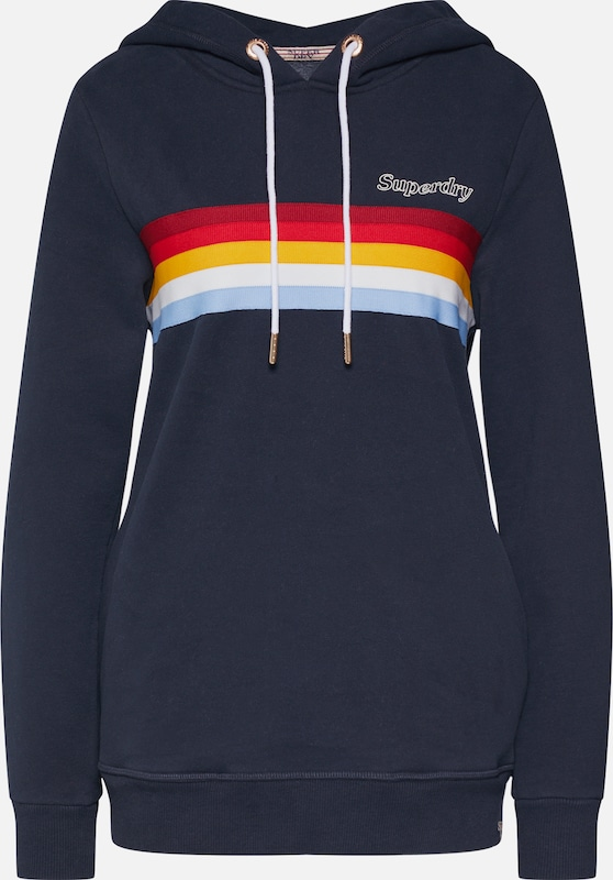 Superdry Sweatshirt 'RETRO HOOD' in navy, Produktansicht