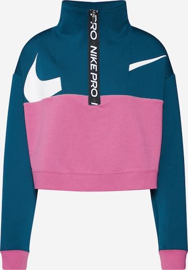 NIKE Sportief sweatshirt 'Get Fit' in de kleur Petrol / Pink, Productweergave