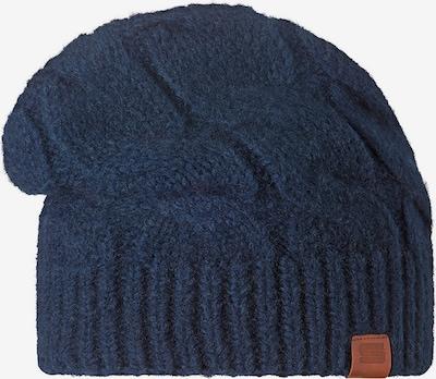 STÖHR Mütze in dunkelblau / braun, Produktansicht