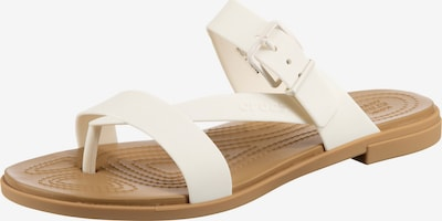 Crocs Pantolette 'Tulum Toe Post Sandal W' in naturweiß, Produktansicht