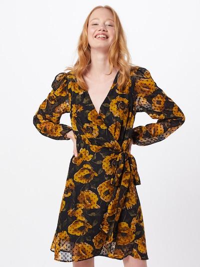 OBJECT Kleid 'ELODIA' in gelb / schwarz, Modelansicht