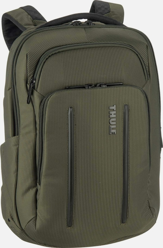 Thule Rucksack 'Crossover' in oliv: Frontalansicht