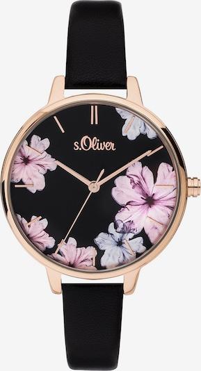 s.Oliver Uhr in gold / pinkmeliert / schwarz, Produktansicht