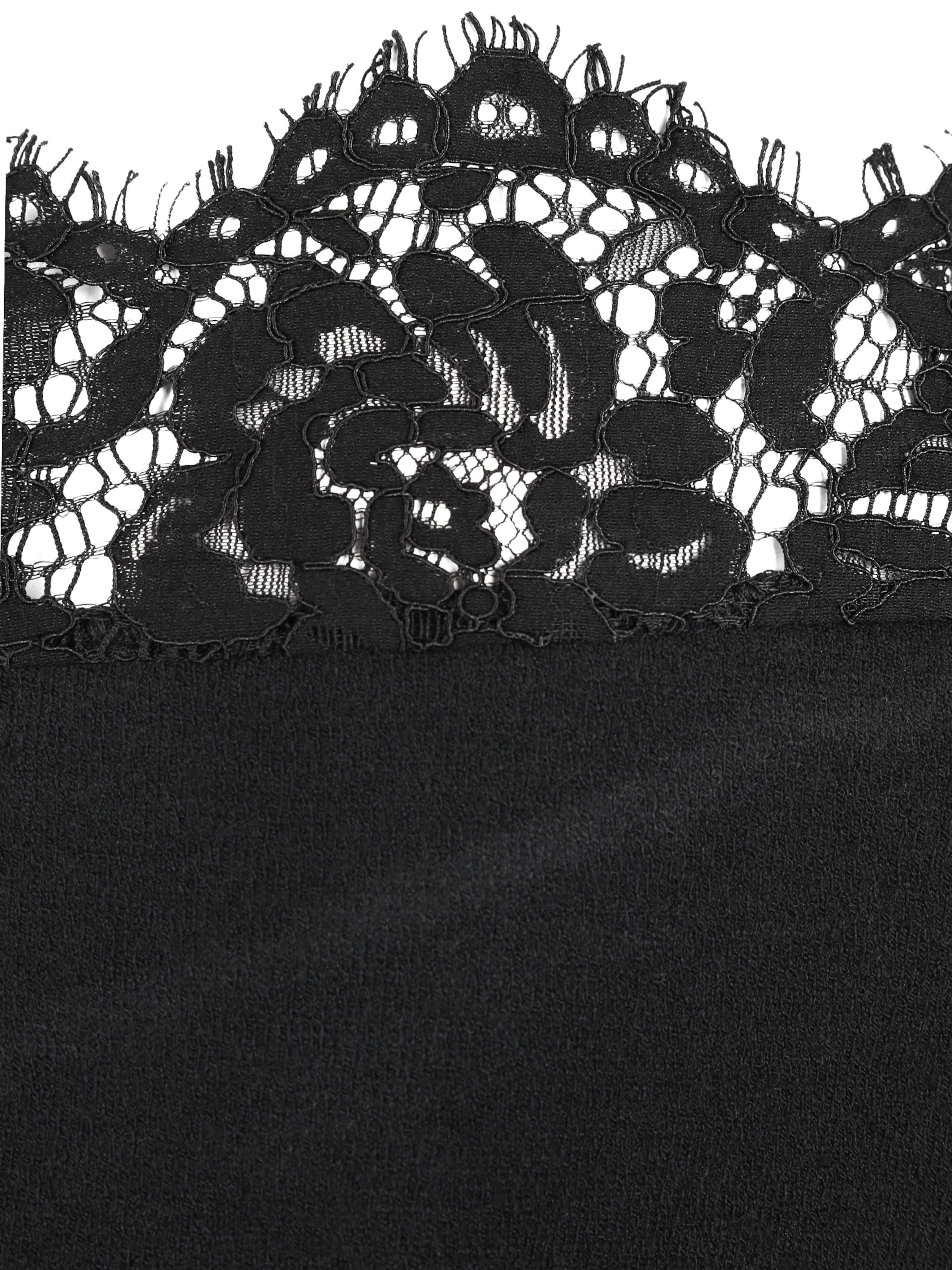 ABOUT YOU Curvy Pulóver 'Ledora Jumper' fekete színben