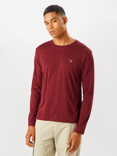 Tricou GANT pe roșu vin: Privire frontală