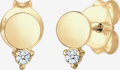 Diamore Ohrstecker 'Kreis' in gold / weiß, Produktansicht
