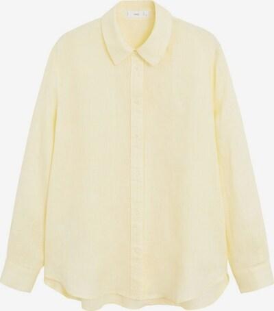 MANGO Hemd 'Lino' in pastellgelb, Produktansicht
