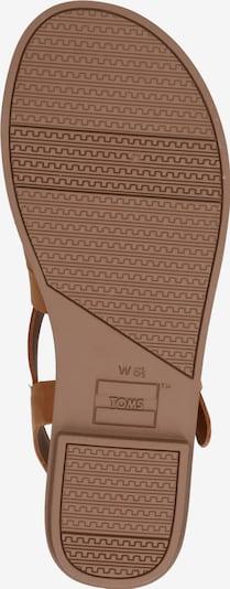 Sandale cu baretă 'SICILY' TOMS pe maro deschis: Privire de sus