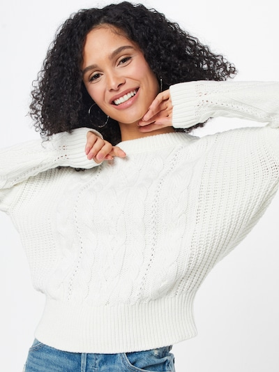 GAP Pullover  'SLOUCHY CABLE CREW' in naturweiß, Modelansicht