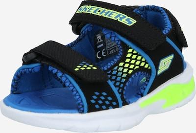 SKECHERS Sandalen 'E-II Beach Glower' in blau / limette, Produktansicht