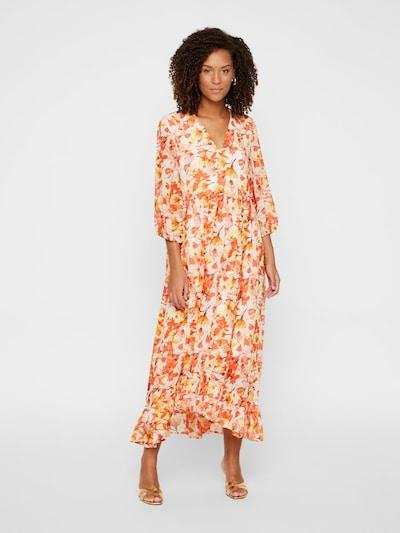 Y.A.S Kleid `SIRI´ in gelb / koralle / hellorange / orangerot / weiß, Modelansicht