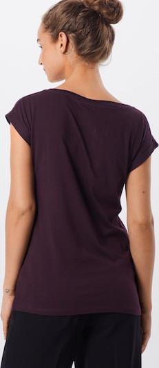 Iriedaily Shirt 'Pingulax Tee' in aubergine: Rückansicht