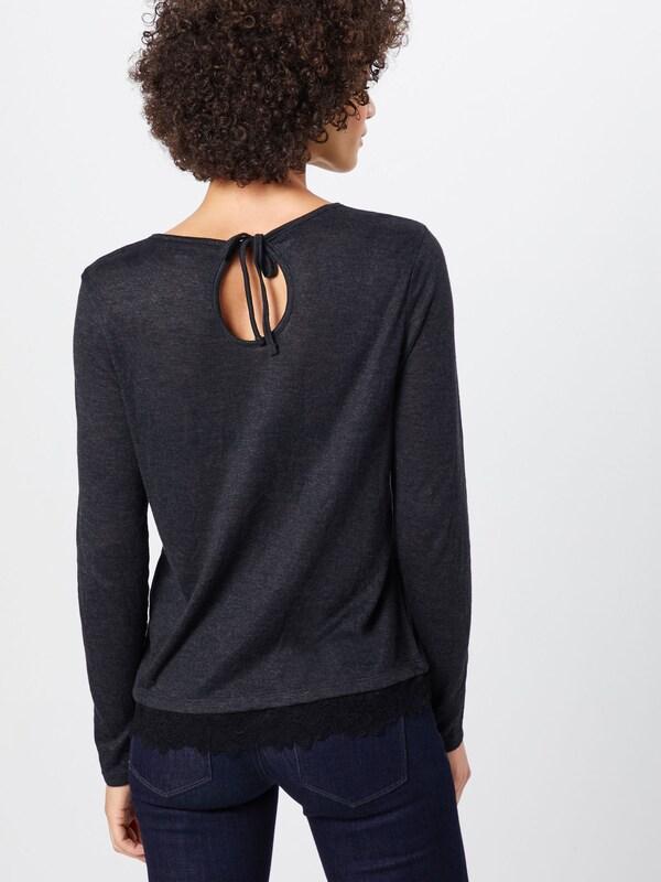 Mix Gris 'lace Denim shirt Longsleeve' Tom En T Tailor Chiné mwvn0ON8