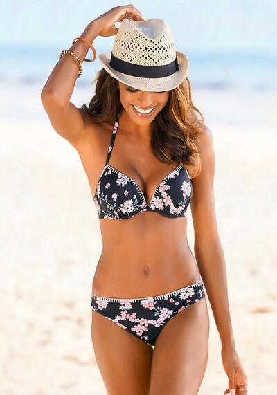 SUNSEEKER Push-Up-Bikini-Top in schwarz, Modelansicht
