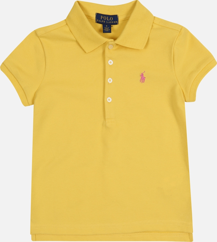 POLO RALPH LAUREN Shirt 'SS POLO SHRT-TOPS-KNIT' in gelb / pink, Produktansicht