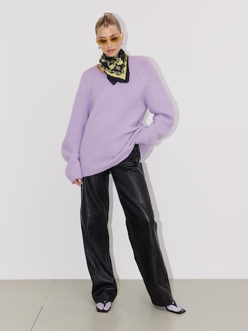 Lilac Sweater Look by LeGer by Lena Gercke