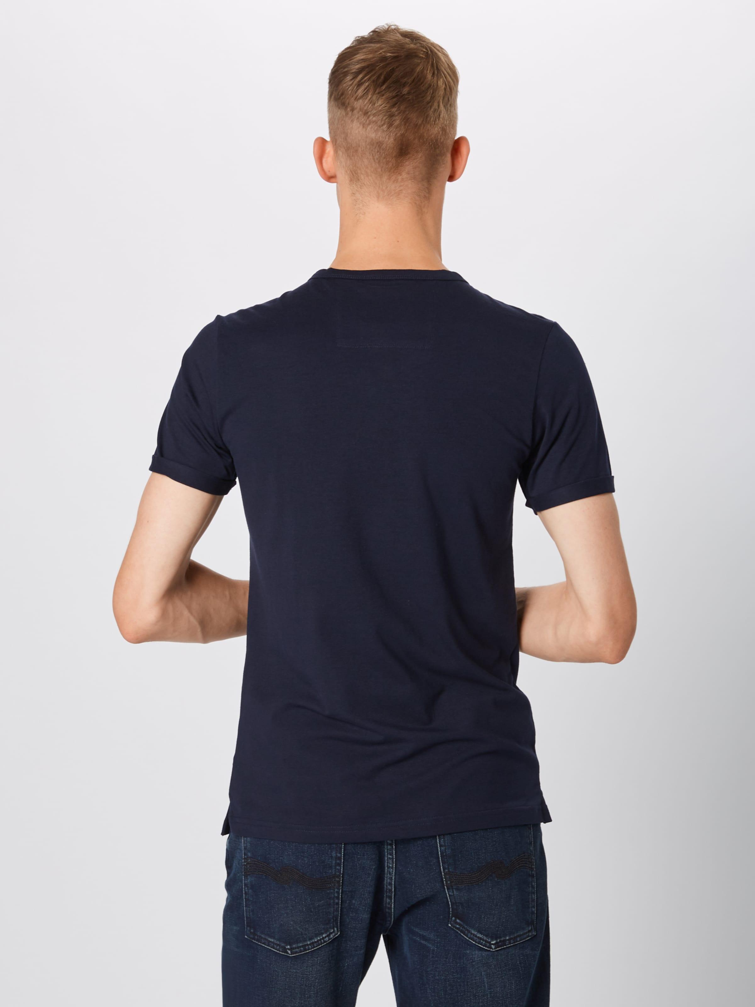 Foncé shirt Label Bleu S En oliver T Red Y7gvf6by