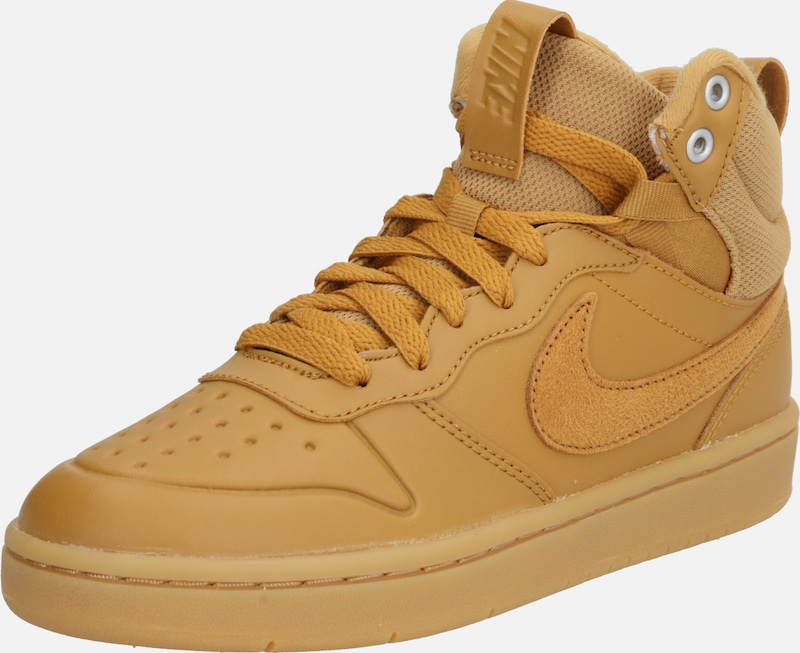 Nike Sportswear Sneaker 'Court Borough Mid 2 Boot' in cognac: Frontalansicht