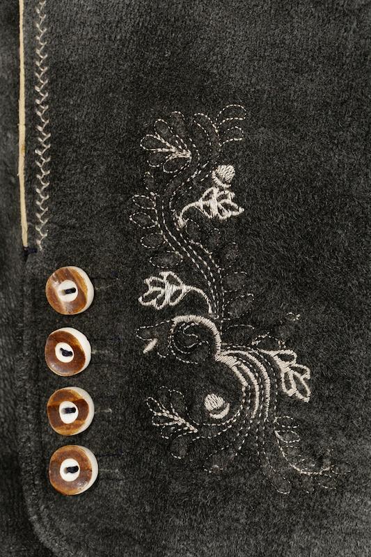 MARJO 3 4-lange Trachtenlederhose mit mit mit Stretchanteil in anthrazit  Freizeit, schlank, schlank 9c24d0
