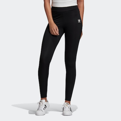 ADIDAS ORIGINALS Leggings en noir / blanc: Vue de face
