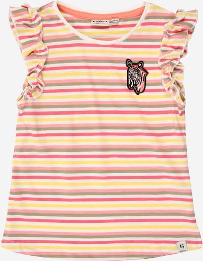 GARCIA Shirt in limone / grün / pink / himbeer / weiß, Produktansicht