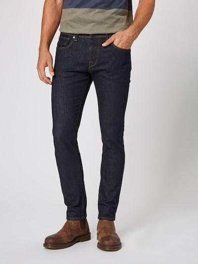 SELECTED HOMME Slim-Fit-Jeans in dunkelblau, Modelansicht