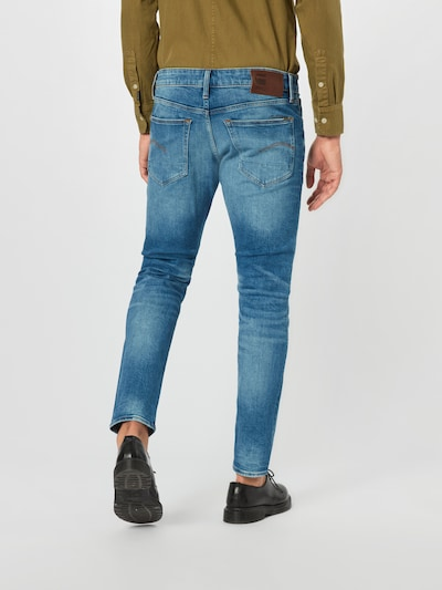 G-Star RAW Jeans '3301' in blue denim: Rückansicht