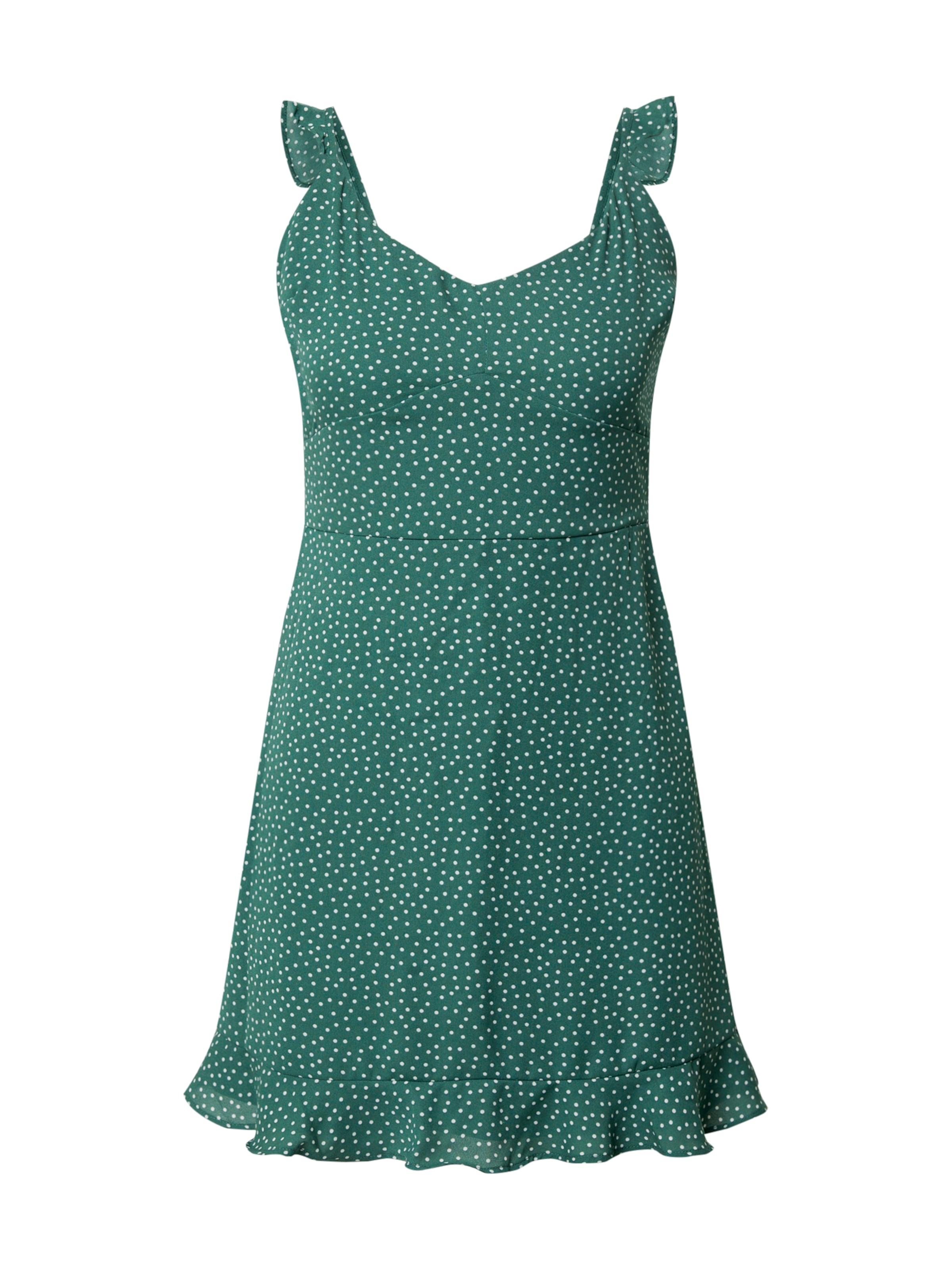 Abercrombie & Fitch Sommarklänning i grön / vit