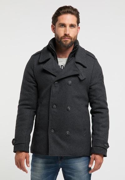 Petrol Industries Manteau d'hiver en gris basalte, Vue avec modèle