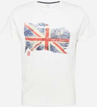 Pepe Jeans Shirt 'SID' in de kleur Marine / Duifblauw / Zalm roze / Offwhite, Productweergave
