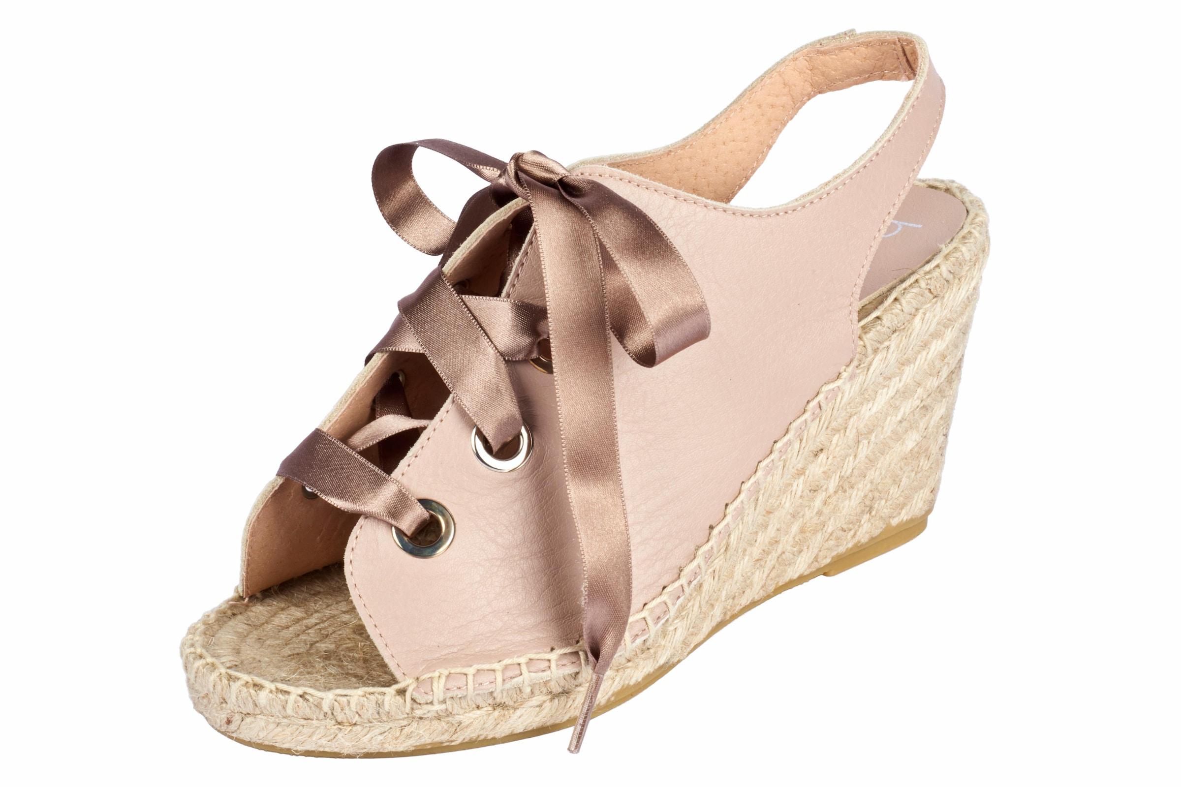 heine Sandalette mit Schnürung Verschleißfeste billige Schuhe