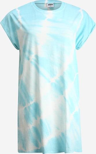 Urban Classics Curvy Robe 'Tie Dye' en bleu clair, Vue avec produit