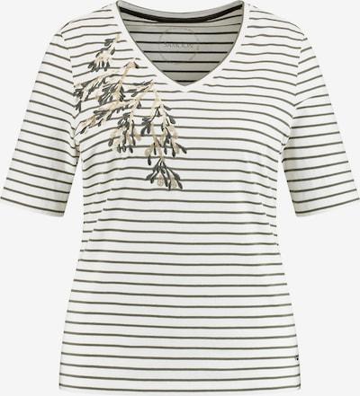 SAMOON Shirt in gold / oliv / weiß, Produktansicht