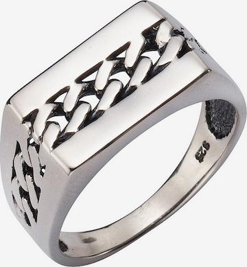 FIRETTI Ring mit Panzerkettengliederung in Silber