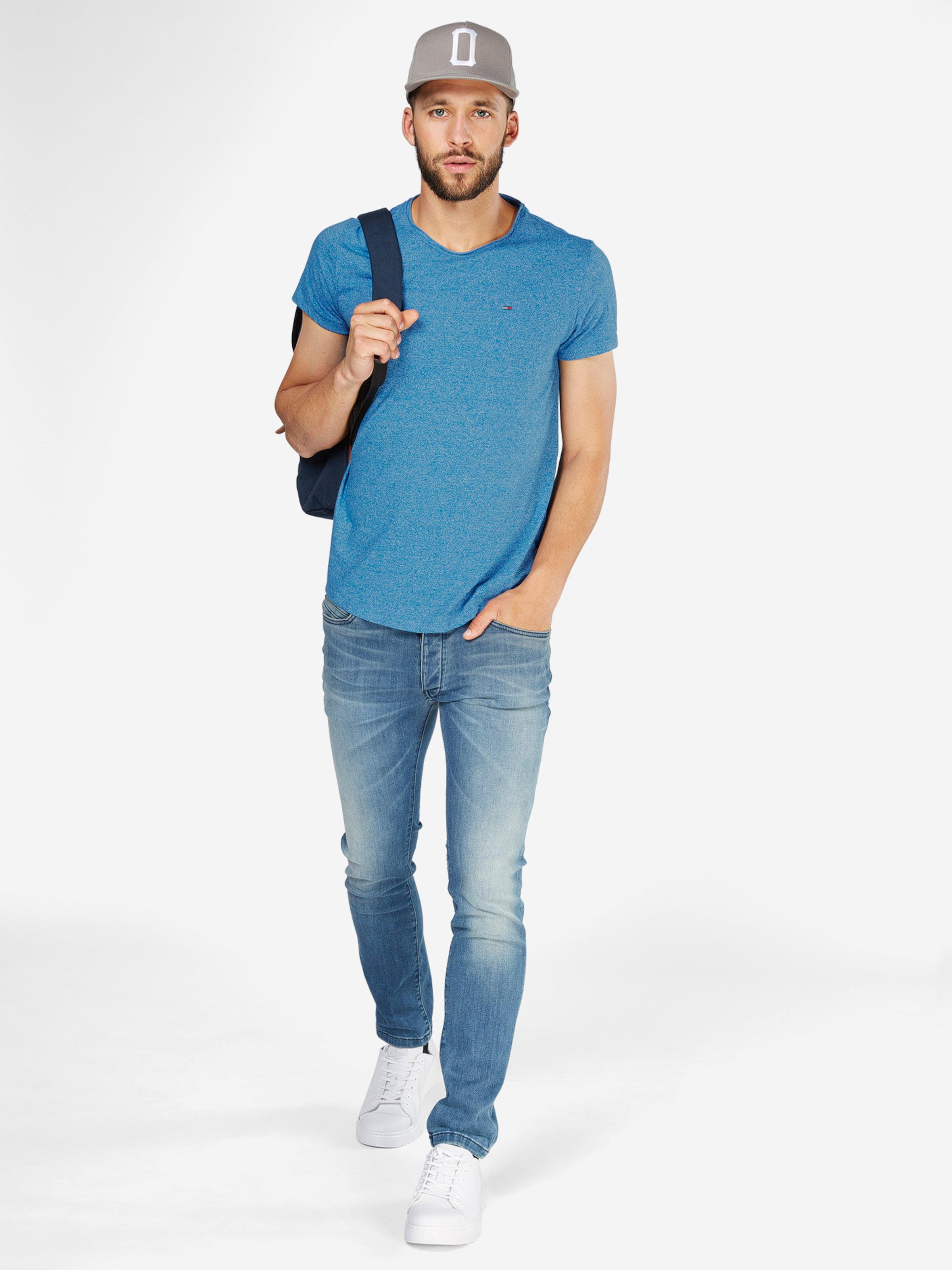 Tommy Jeans T-Shirt in Melange-Design Brandneue Unisex Günstig Online Preise Und Verfügbarkeit Günstiger Preis Steckdose Modische Freies Verschiffen Neuestes jtBXxAnH