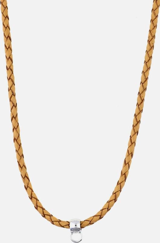 ESPRIT Charm-Halskette 'Leather Chain ESNL92070F750'