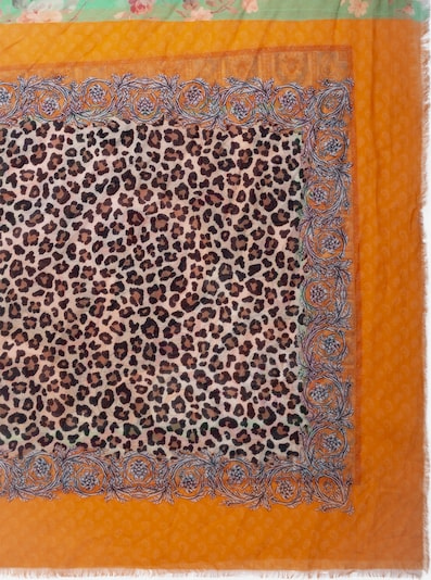 APART Schal mit Druck in braun / mint / orange, Produktansicht