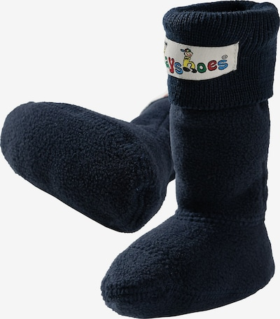 PLAYSHOES Fleece-Stiefel-Socke in blau: Frontalansicht