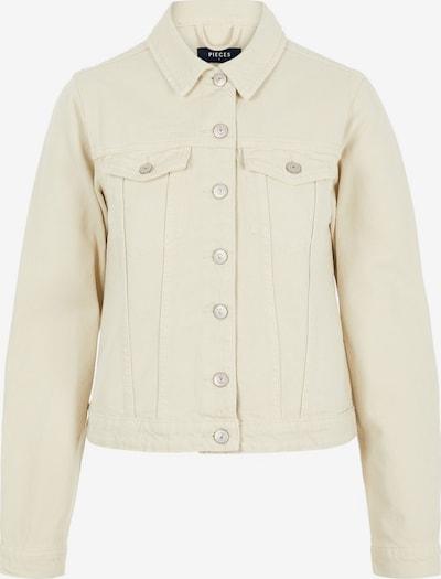 PIECES Regular Fit Jeansjacke in beige, Produktansicht