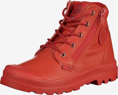 Palladium Stiefelette in rot, Produktansicht