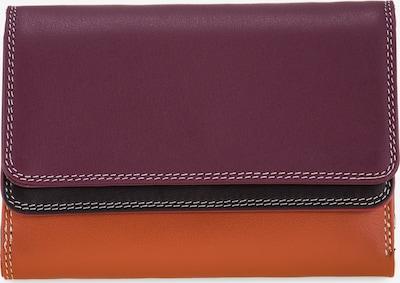 mywalit Portemonnee 'Double Flap' in de kleur Donkerbruin / Brons / Bessen: Vooraanzicht