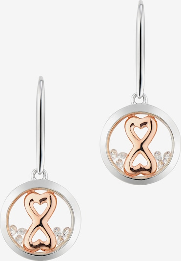 Astra Creole 'INFINITY HEART' in rosegold / silber, Produktansicht