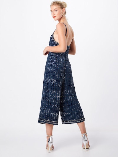 LACE & BEADS Overall in navy: Rückansicht