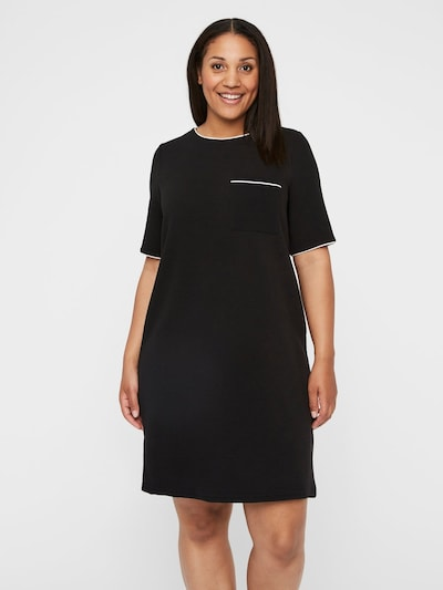Junarose Kleid in schwarz / weiß, Modelansicht