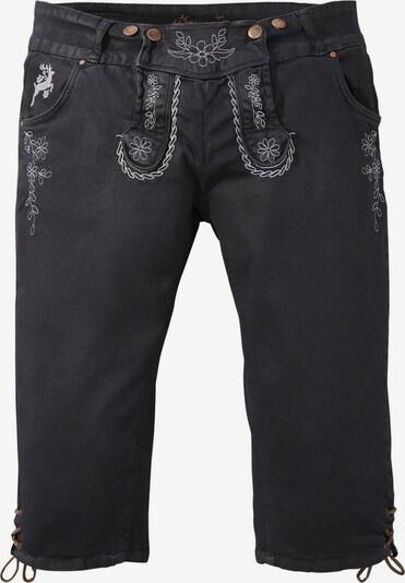 HANGOWEAR Trachtenhose in schwarz / weiß, Produktansicht