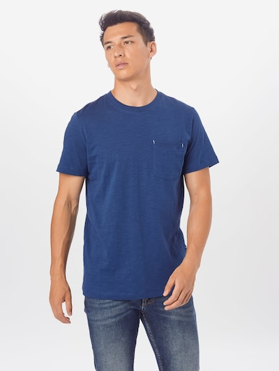 SELECTED HOMME T-Shirt 'Jared' en bleu chiné: Vue de face