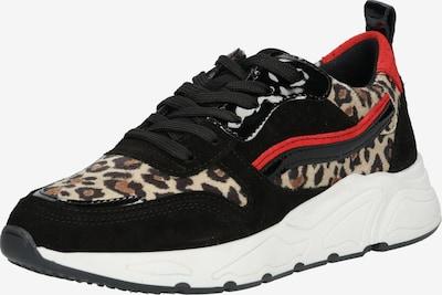 Sneaker low '5614' PS Poelman pe bej / roșu / negru, Vizualizare produs