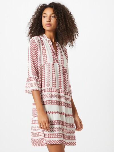 Hailys Kleid 'Lola' in hellrot / weiß, Modelansicht
