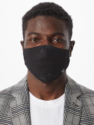 Grubenhelden Stoffmasken 5er Pack 'Kohleoptik' in schwarz: Frontalansicht