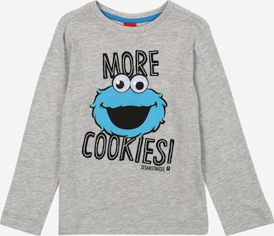 s.Oliver T-Shirt in blau / grau / schwarz, Produktansicht